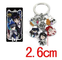 Wholesale anime toys black butler for sale - New Cartoon Black Butler Keychains Alloy Pendant Key Chain Hot Anime Collection Key Ring Kids Gifts Toy
