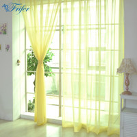 Wholesale bathroom cheap - 100 *200cm Cheap Modern Window Curtain Home White Tulle Curtains For Living Room Bedroom Bathroom Polyester Window Screen