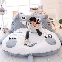 Wholesale totoro mat resale online - Double Man Sleeping Bag Huge Comfortable Totoro Cartoon Bed Mattress Mats Sofa Pad Tatami Personality Merry Christmas Gift lc bb