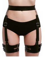 ingrosso cintura bdsm donne-UYEE 100% Handmade Sexy Pu Cuoio Harness Corpo Bondage Rave Gamba Giarrettiera Cintura Punk Bretelle Cinghia Per Bdsm Donne LP-054