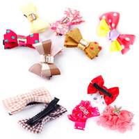 Wholesale Dog Barrettes - Various PET Dog Cat Hair Clips Barrettes Lovely PET Hairpins 100 pieces mix type wholesale free shipping