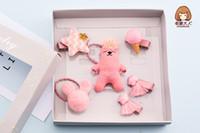 creme baby decken großhandel-Baby Bär Decke, Blume Eis, Kinder Haarspange Kombination Geschenkbox, Haarschmuck