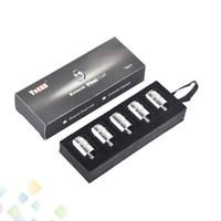 dhl kalem toptan satış-Otantik Yocan Evolve Artı Bobin Yedek Bobinler QDC Kuvars Çift Bobinler Wax Vape Kalem E Sigara 100% Orijinal DHL Ücretsiz