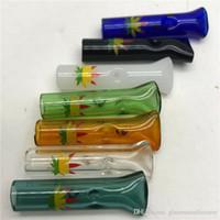 sigara filtresi boruları toptan satış-Cam Sigara Filtresi İpuçları haddeleme tütün ucu Yüksek Kalite 7 Renkler Duman boru düşük fiyat Sigara Aksesuarları aracı Tutucu