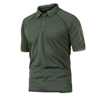 engranaje de camuflaje al por mayor-Refire Gear Military Tactical Polo Men Summer Us Army Camuflaje Polo Man 'S Transpirable de secado rápido Arm Pocket Polo Shirts