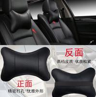 boyun için baş dayama yastığı toptan satış-Audi A3 Için araba Kafalık Yastık Boyun A4 B6 B7 A6 C5 BMW E46 E39 E60 E90 Toyota Corolla Avensis Yaris Nissan Qashqai Aksesuarları