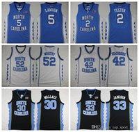 Wholesale Bright Shorts - 2016 North Carolina Tar Heels College 42 Jerry Stackhouse Jersey 52 James Worthy 30 Rasheed Wallace 33 Bright Antawn 2 Felton 5 Lawson