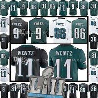 Wholesale Dry Bowl - Philadelphia Men's Eagle 86 Zach Ertz 9 Nick Foles Jersey 11 Carson Wentz 36 Jay Ajayi 2018 Super Bowl Alshon Jeffery Dawkins Jerseys
