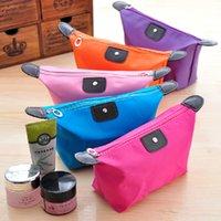 çantaları kapat toptan satış-10 Renkler Lady Makyaj Kılıfı Kozmetik Makyaj Çantası Debriyaj Asılı Tuvalet Seyahat Kiti Takı Organizatör Rahat Çanta Q143