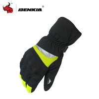 Wholesale Touch Screen Glove Cotton - BENKIA Touch Screen Winter Motorcycle Gloves Cotton Warm Gloves Motorcross Dirt Bike Full Finger Protective