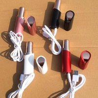 Wholesale lipstick usb for sale - Group buy USB Rechargeable Lipstick Facial Hair Remover Red Mini Portable Body Epilator K Gold Plated Women Painless Hair Removal