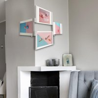 Wholesale Horse Picture Frames - LEGGY HORSE Creative Home Decoration ABS Material Photo Frames 4 x 6 Set Of 4 Picture Frame To Easily Change The Shape