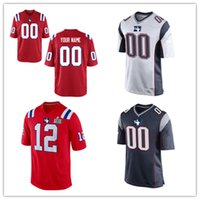 Wholesale new england football jersey - Mens womens youth kids New England Customized football Jersey White Red Navy color Customized Jersey S-3XL