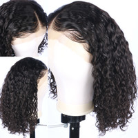 Wholesale light beautiful wig online - Hot Beautiful Density Lace Front Human Hair Wigs Pre Plucked Natural Hairline Curly Brazilian Remy Hair Full Lace Wigs With Baby Hair