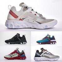 ingrosso scarpe di filati-Con Box React Element 87 Undercover 3.0 Mesh traspirante Maglie Donna Uomo Scarpe da corsa Casual Sport Sneakers Zapatos Taglia 36-46
