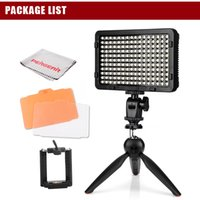 trípode alto al por mayor-High-Power 176 Led Video Light Dimmable en la cámara DSLR Photo Light Pannel + YunTeng YT-228 Mini Tripod