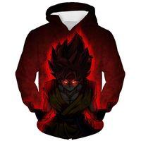 Wholesale goku clothes online - Dragon Ball Z Hoodies Sweatshirt Limit Breaker Kaio Ken Goku DBZ D Plus Size Clothing Casual Hip Hop Hooded Dropship