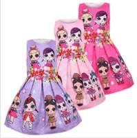 ingrosso abiti bambola per bambini-Neonate vestito senza maniche Cute Kids Dress Cosplay bambole Baby Abiti per le ragazze Dolce Principessa Baby Abbigliamento vestito 3 colori KKA5969