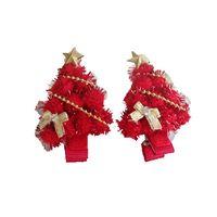 elegantes regalos para bebés al por mayor-Navidad tocado de los niños linda arco hairball estrella bebé regalo de navidad árbol de navidad elegante accesorios para el cabello horquilla