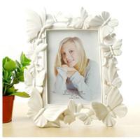 минималистский каркас оптовых-Белый фоторамка 7 дюймов европейский минималистский творческий свадьба фоторамка таблица маятник