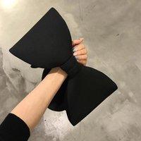 yay totes toptan satış-Moda Bow Gece Çantası Kore Stil Kadınlar Partisi Cüzdanlar Totes Omuz Çantaları Bow Kayışı Çantalar Crossbody çanta Uzay Pamuk Blosa