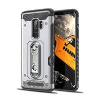 capa de nota de galaxia al por mayor-Cubierta híbrida del teléfono de la protección de la cubierta Kickstand para Samsung Galaxy Note 8 Note5 A6 Plus 2018 A5 A7 2017 S7 Edge Card Pocket Dual Layer Case