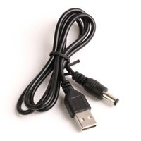 Wholesale dc jack mm for sale - Group buy 80cm USB Power Charging Cable DC5 mm mm USB TO DC mm Power Cable jack Black