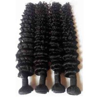 Wholesale dhgate resale online - Peruvian Malaysian Mongolian Brazilian Deep wave human Hair Weft inch Unprocessed European Indian remy hair extensions Bundles DHgate
