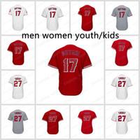 suzuki stocks UK - 27 Mike Trout 17 Shohei Ohtani Jersey Men Women Youth Jerseys Nickname Kid Home Away Flexbase Cool Base 2018 stock Red white gray