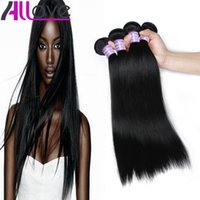 Wholesale virgin hair 34 silky straight resale online - Cheap Brazilian Hair Wefts Bundles Unprocessed Peruvian Indian Malaysian Silky Straight Virgin Hair Extensions