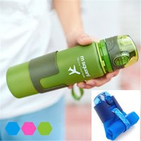 Wholesale Bpa Water - Collapsible Water Bottle - One Touch Cap - Insulated, BPA Free Silicone, 22 Ounces Great for: Hiking, Camping, Traveling, Biking, Cycling, Y