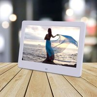 Wholesale metal digital photo frames resale online - Top Quality HD LED Digital Photo Frame Picture Album Movie Player with Remote Control Oct9
