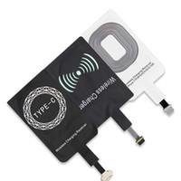 комплект для зарядки samsung оптовых-Портативный беспроводной зарядки приемник Ци стандартное зарядное устройство комплект Pad для iPhone типа C Huawei Android Mobile