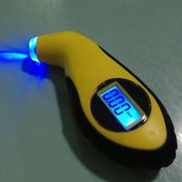 audi için lcd ekranı toptan satış-Universal Araç Dijital Lastik Basınç Göstergesi Taşınabilir dijital Bisiklet Motor Araba Manametre Lastik Teşhis LCD Ekran