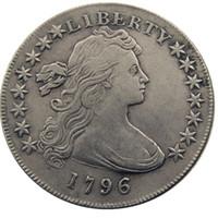 pirinç kenarlı toptan satış-Amerika birleşik Devletleri 1796 Liberty Pirinç Gümüş Kaplama Çoğaltma Paralar Mektup Kenar fabrika fiyat