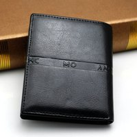Wholesale Gentleman Photo - High quality men's luxury business MB genuine leather wallet gentleman black short wallets classics MT card holder wallet