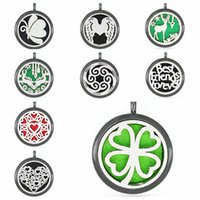 Wholesale clover essential oil resale online - Clover Christmas Deer gun black color Perfume Aromatherapy Pendant Essential Oil Diffuser Necklace Pendant Women Jewelry Making no chain