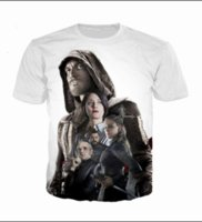 juegos de asesinos de credo al por mayor-Summer Newest Fashion Womens / Mens Assassins Creed Juego Divertido 3D Creativo Casual Hip Hop Camiseta DS00236