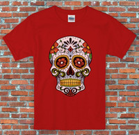 Wholesale cotton candy sugars - Candy Skull Day of the Dead Halloween Sugar Skull S to 2XL