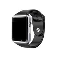 ingrosso orologio del telefono bluetooth-A1 Smart watch Bluetooth Smartwatch per IOS iPhone Samsung Android Phone Orologio intelligente Smartphone Orologi sportivi