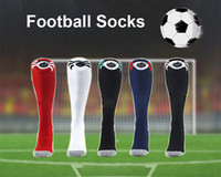 Wholesale ac hoses - 2017 Kids Soccer Socks Real Madrid Knee High Stocking AC Milan Thicken Towel Bottom Long Hoses Inter sports socks football stocking
