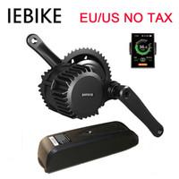 e fahrrad-kits 36v großhandel-Großhandel 36V 350W Mid Drive E Bike Motor Kit Bike Elektromotor Kit mit Batterie Bafang BBS01 Elektro Bike Conversion Kits