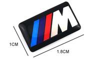 accesorios m6 al por mayor-Etiquetas engomadas del coche para Bmw M M3 M5 M6 X5 E46 Etiquetas de la personalidad Auto Decoraciones Accesorios Car Plastic Drop Sticker Car Styling 50pcs / Lot