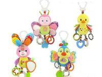 ingrosso conigli giocattoli per neonati-Carino farfalla coniglio anatra uccellino bambino passeggino letto intorno appeso a campana campana attività morbido giocattolo esterno peluche bambino