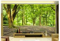 Wholesale Natural Style Landscaping - 3D Stereo Natural Landscape TV Background Wallpaper Living Room Bedroom Woods Seamless Wall Wallpaper Large Mural