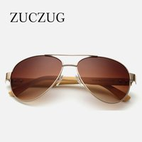 Wholesale Sport Sunglases - ZUCZUG Retro Poilt Wood Bamboo Sunglasses Men Designer Coating Sun Glasses Women Vintage Sport Sunglases Oculos De Sol Uv400