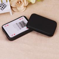 ingrosso caso metallico vuoto-Scatola di immagazzinaggio di metallo nero vuota Scatola di regalo di latta mini Organizer piccolo caso per soldi Coin Candy Keys Scatole di carte da gioco
