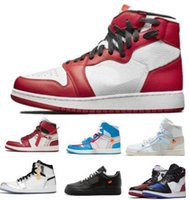 Wholesale women home shoes - New Off 1 Men Basketball Shoes Women Blue White Rebel Chicago Homage To Home Mens 1s 2018 Designer Sports Trainers Sneakers 7-13