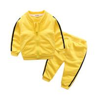 uk giysileri toptan satış-Kız erkek giysileri ücretsiz kargo rusya abd İngiltere Brezilya İspanya nether Hollanda İsrail bahar giymek Bruce Lee sarı spor suit şerit