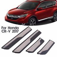 eşyalar honda toptan satış-4 Adet Otomobil Kapı Eşiği Trim Şerit Kapak Hoşgeldiniz Pedal Honda CRV Için Araba Styling Boya Koruyucu Güvenlik Paslanmaz Çelik